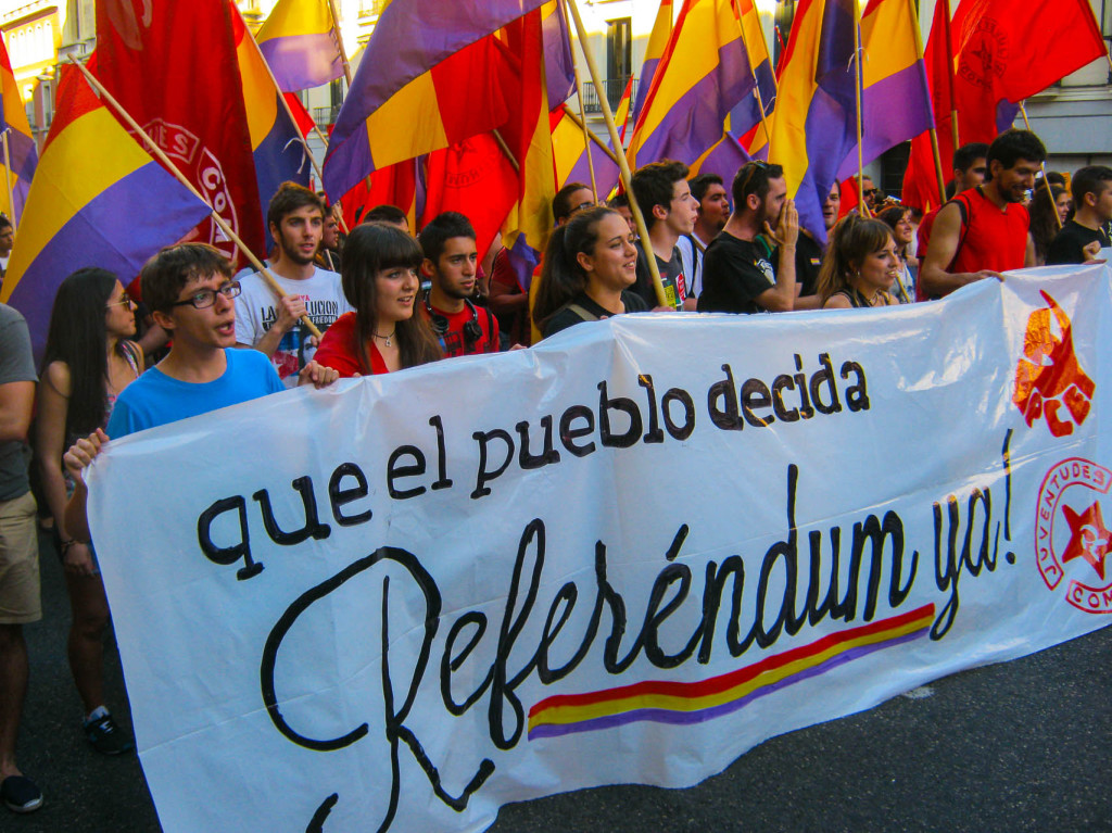 Proteste de strada in Madrid